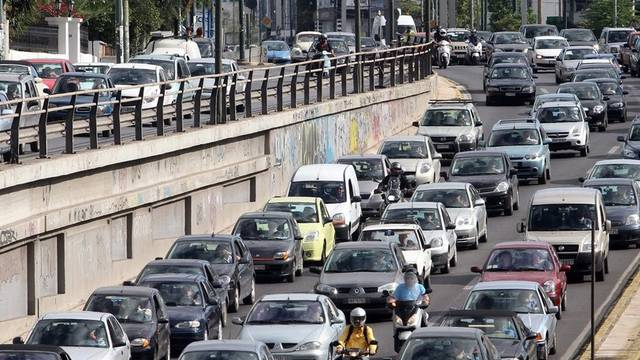 In Athen herrscht ein Verkehrschaos wegen der Streiks