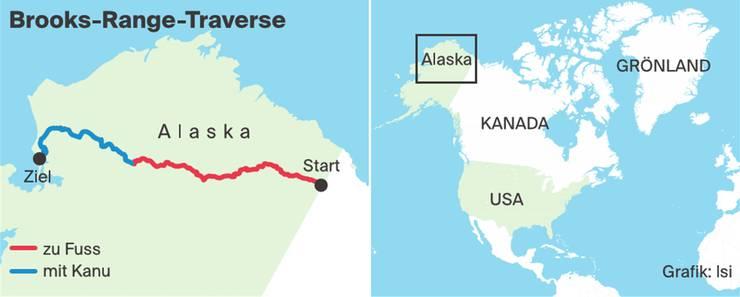 Meier und Mathis wanderten einmal quer durch Alaska.