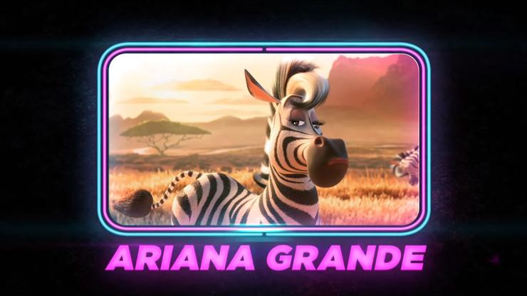 Ariana Grande als Zebra