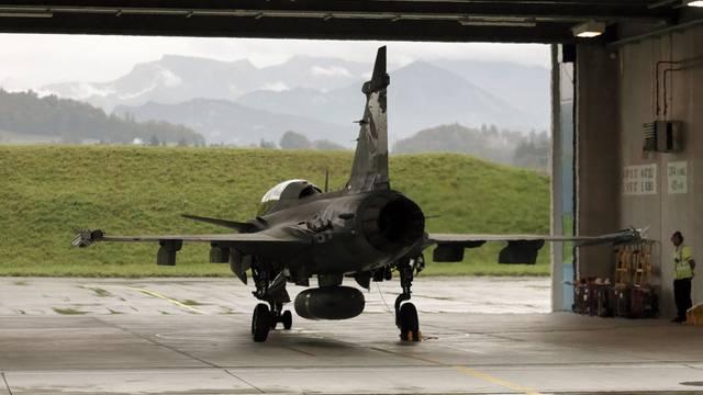 Ein Gripen-Kampfflugzeug