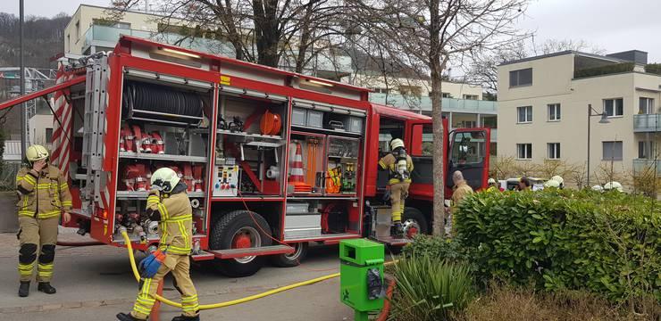 Brand an der Römerstrasse 11 in Baden