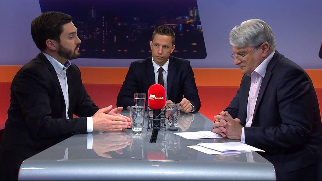 """DNA-Fahndung ausweiten? Der """"TalkTäglich"""" mit Cédric Wermuth und Christian Imark"""