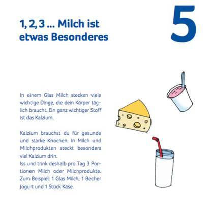 Swissmilk informiert die Primarschüler in einer Broschüre über die Milch.