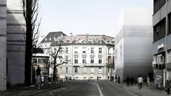 Erweiterungsbau beim Kunstmuseum in Basel