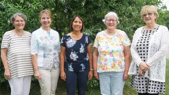 Gehen in den wohlverdienten Ruhestand (von links): Christa Reichwein, Monika Bach, Mireille Brun, Maud Baumann und Brigitte Maag.