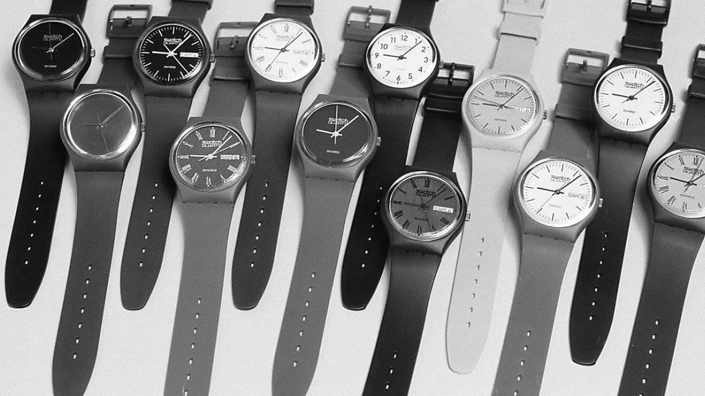Die Swatch-Modelle aus der ersten Serie von 1983 (Archiv).