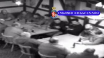 Mitglieder der Frauenfelder Zelle der 'Ndrangheta wurden im August 2014 von der italienischen Polizei gefilmt, als sie in einem Restaurant eine Versammlung abhielten (Archivbild).