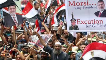 Klare Fronten: Anhänger von Mursi in Kairo