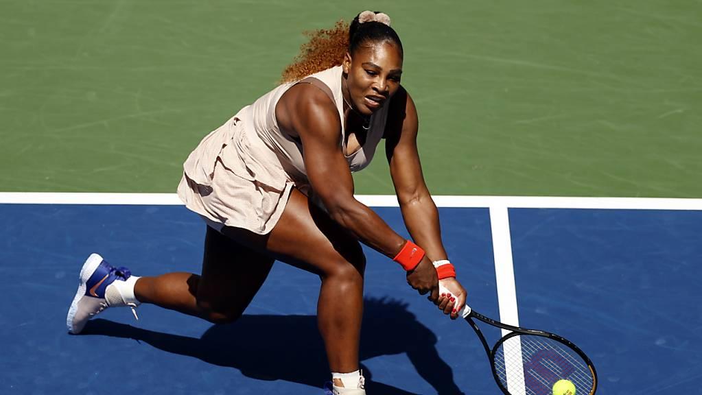 Harter Kampf mit gutem Ende: Serena Williams steht am US Open zum 17. Mal im Viertelfinal.
