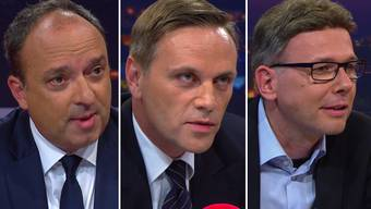 Über das umfassende Sanierungsprogramm des Kantons Aargau diskutierten im «Talk Täglich» auf Tele M1 Markus Dieth, Jean-Pierre Gallati und Dieter Egli.