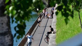 Der Ländiweg wird in einer Etappe saniert und dann rund sieben Meter breit werden.