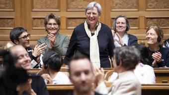Hanna Sahlfeld-Singer gehörte zu den ersten elf Frauen, die ab 1971 im Nationalrat sassen. Sie und Gabrielle Nanchen (SP, VS) sind die beiden einzigen, die noch leben.
