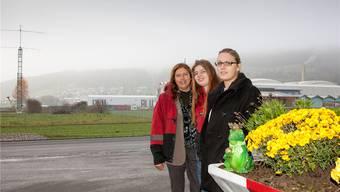 Seniorchefin Monika Bertschi mit den beiden Töchtern Olivia und Sabine Bertschi. Peter Siegrist