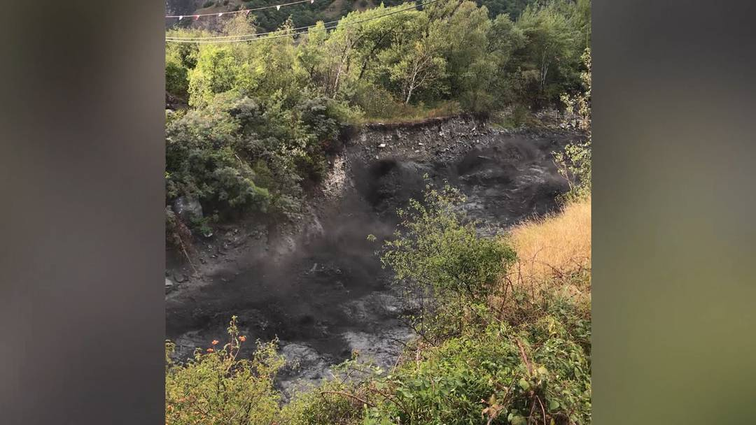 Eindrücklich und bedrückend: Hier kommt die Sturzflut von Chamoson