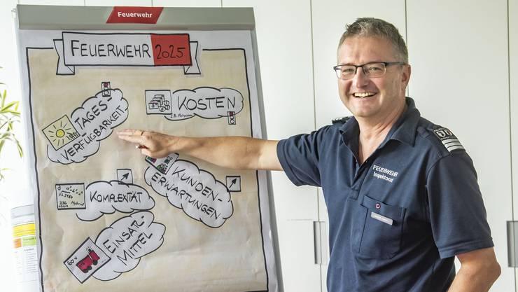 Ein Mann der klaren Worte: Feuerwehrinspektor Werner Stampfli.