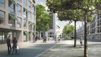 So soll das Grossprojekt Emmenhof einst aussehen.