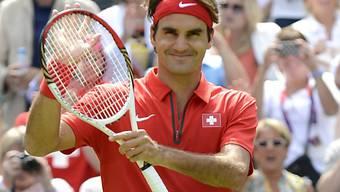 Roger Federer liess sich auch von den Regenpausen nicht beirren