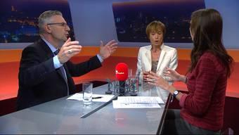 Im «TalkTäglich» diskutiert Ruth Humbel (CVP) mit Andreas Glarner über die von der CVP-Nationalrätin geforderte Prämienverbilligung für sportlich aktive Menschen.