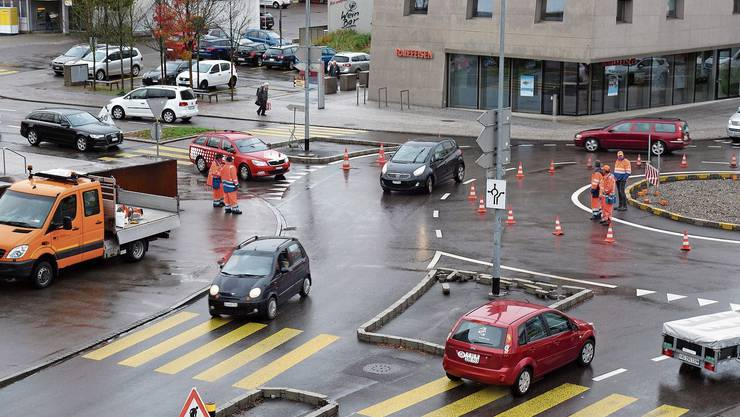 Fahrversuche auf dem Turbokreisel Muri am 8. November zeigten, welche Radien notwendig sind.