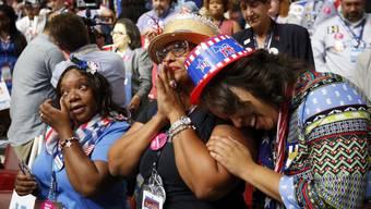 Historischer Moment in den USA: Erstmals nominierte eine der beiden grossen Parteien eine Frau für die Präsidentschaftswahlen.