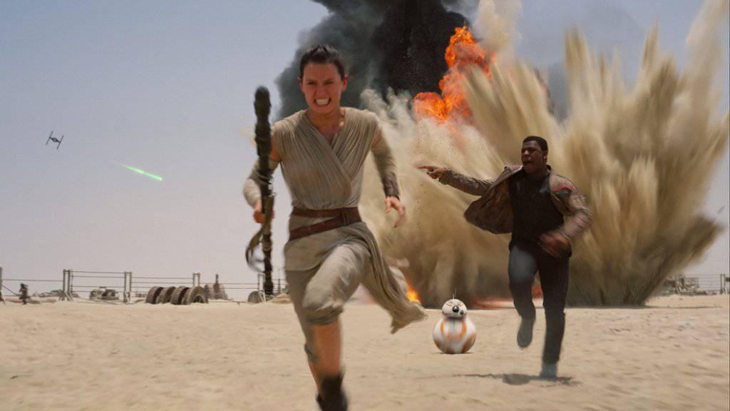 Szene aus «Star Wars: The Force Awakens», dem Film, den der krebskranke Daniel Fleetwood wenige Tage vor seinem Tod in einer Sondervorstellung sehen durfte (Archiv).