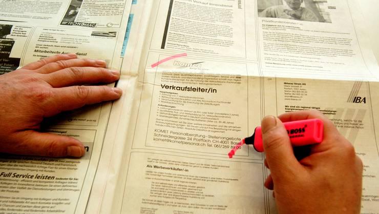 Beim Kantonalen Amt für Wirtschaft und Arbeit sind im Februar 6484 Personen als Stellensuchende registriert - 36 weniger als im Vormonat.