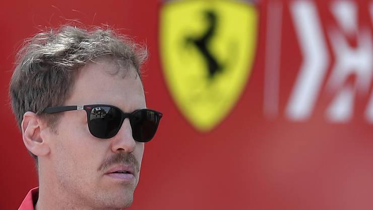 War mit Ferrari noch nie so schlecht in eine Saison gestartet: Sebastian Vettel, beim zweiten Saisonrennen in Bahrain mit Schnauzer