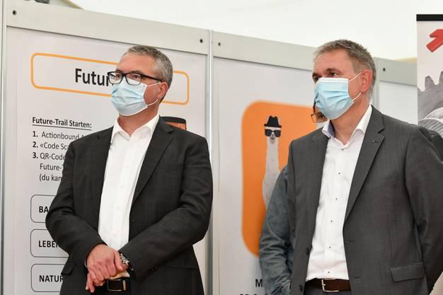 Die beiden Bildungsminister der Kantone Solothurn und Aargau (von links): Remo Ankli und Alex Hürzeler.