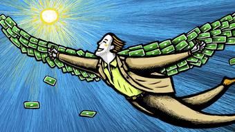 Einst fühlten sich Grossbanker wie Ikarus. Doch der Höhenflug ihrer Saläre neigt sich seinem Ende zu.