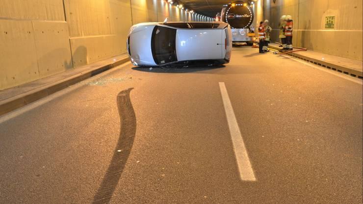 Der Reinachertunnel war nach dem Unfall für mehr als eine Stunde gesperrt. Ein Verkehrschaos war die Folge.