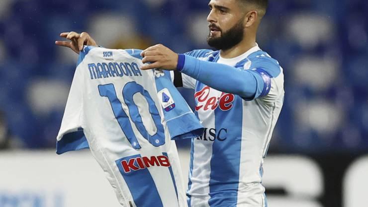 Lorenzo Insigne feiert seinen Treffer zum 1:0