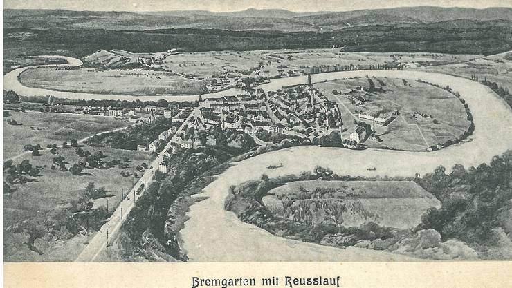 Diese Postkarte wurde von Bremgarten aus an einen Adressaten in Zürich geschickt. Das Datum ist leider nicht eruierbar.