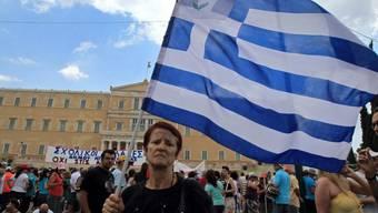 Demonstration vor dem Parlament in Athen