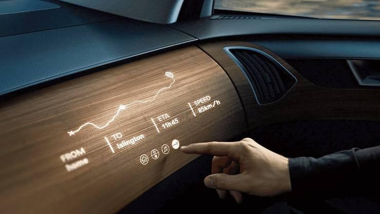 Mit einem transparenten Holzmaterial könnten Displays konstruiert werden.