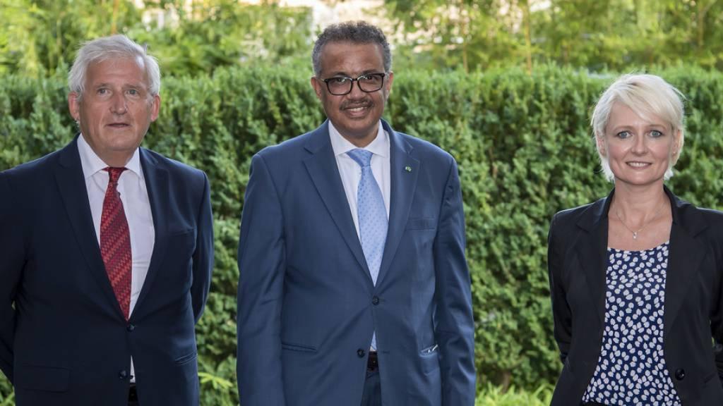 Moret und Stöckli rufen in Genf Bevölkerung zu Vorsicht auf