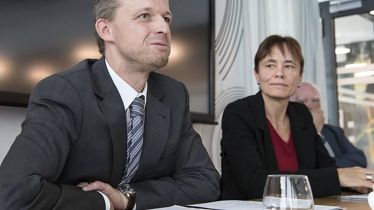 Der neue Direktor Ernst König und Stiftungsratspräsidentin Corinne Schmidhauser