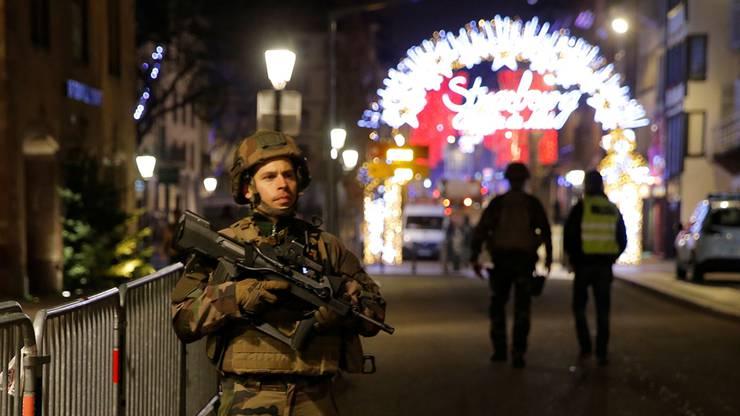 Terror in der Nähe des Strassburger Weihnachtsmarktes.