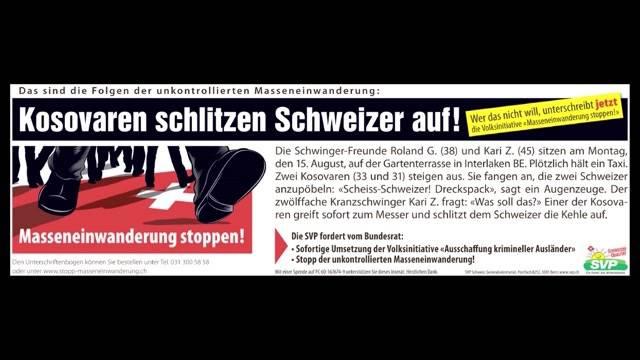 """""""Kosovaren schlitzen Schweizer auf!"""""""