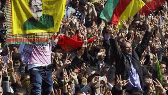 Demonstrationen in Diyarbakir für Öcalan (Archivbild)
