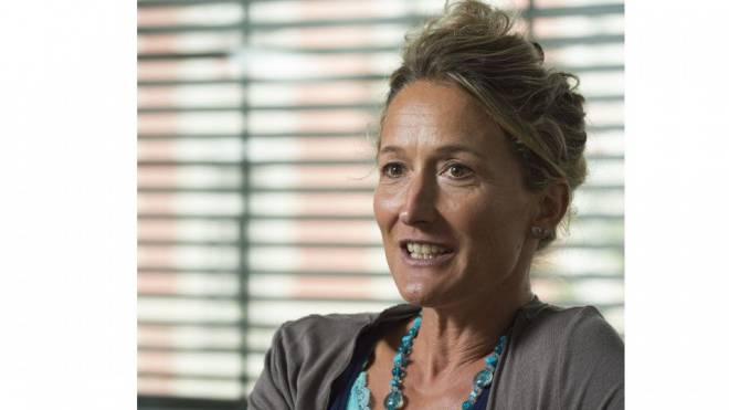 Susanne Hochuli beim Interview auf der «Schweiz am Sonntag»-Redaktion in Baden. Foto: Alex Spichale