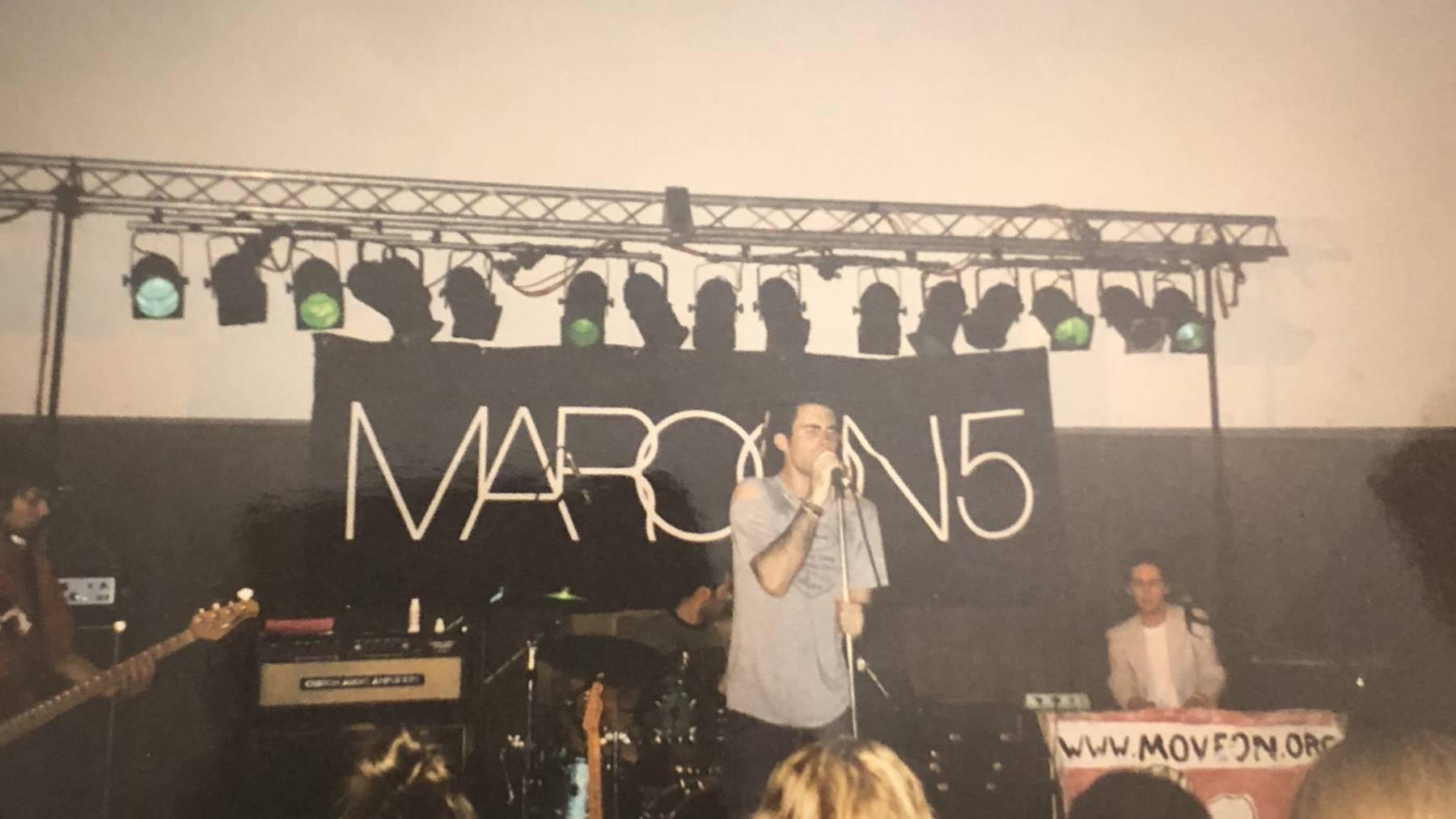 Auch Maroon 5 hat mal klein angefangen.