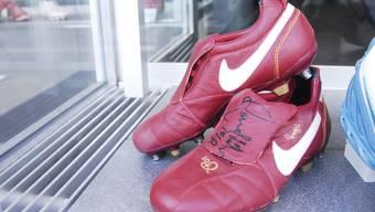 Wahrlich meisterliche Schuhe stehen in Baden