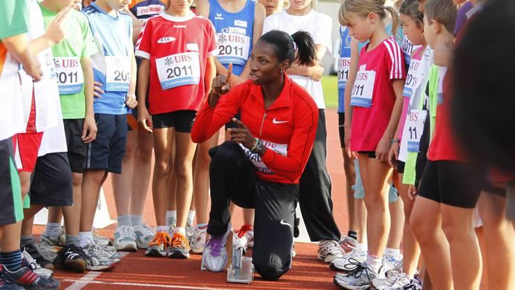 Stars zum Angreifen: Hürdenläuferin Melaine Walker war in Aarau bereits einmal auf Besuch.