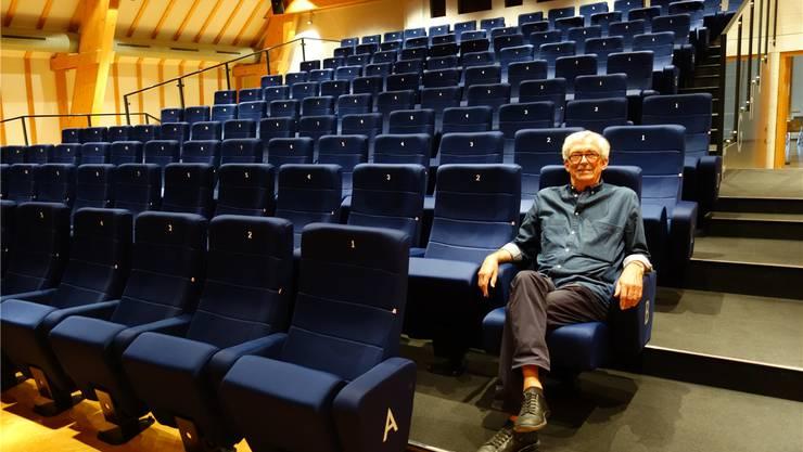 Hardy Ketterer, der Vater des Kinos Mansarde, hat 40 Jahre im Team des Filmklubs Muri mitgearbeitet. Eddy Schambron