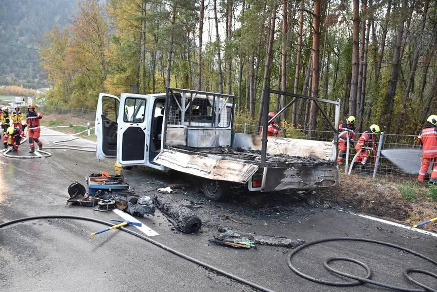 Die Brandursache wird nun von der Kantonspolizei abgeklärt. (Bild: Kapo GR)