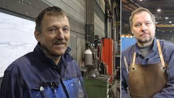 Rolf Döringer (links) braucht drei Jahre vor seiner pensionierung einen neuen Job, während Matthias Döring nach 17 Jahren bei der Jakem AG wieder Bewerbungen schreiben muss.