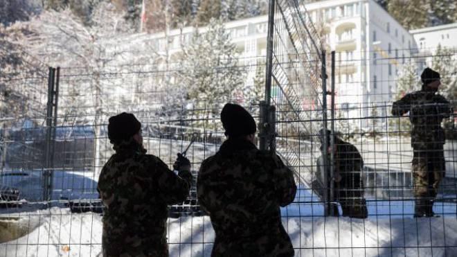 Mitglieder der Armee am WEF in Davos.  Foto: HO