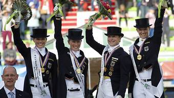 Deutsche Dressurreiterinnen holen Team-Titel bei der WM