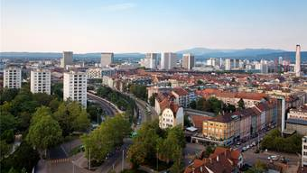 Der Eigenmietwert stand im Grossen Rat im Fokus. Blick ins St. Johann vom Turm der Antoniuskirche aus.