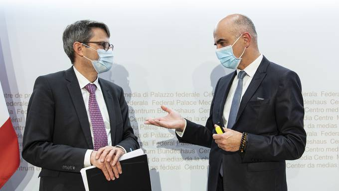 Lukas Engelberger (links) und Alain Berset.